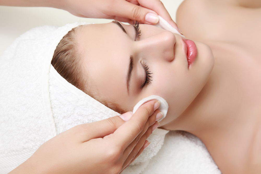 Woman getting a skin care treatment