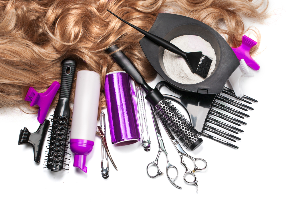 hair products layout