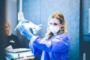 blake austin dental assisting student in action