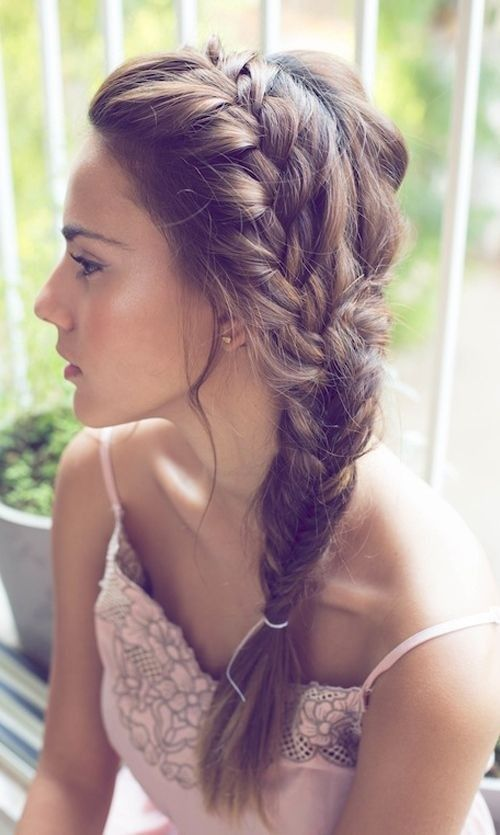 woman with side braid